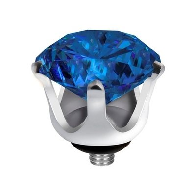 Melano Twisted Crown Edelstaal Meddy Zilverkleurig Blue