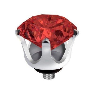 Melano Twisted Crown Edelstaal Meddy Zilverkleurig China Red