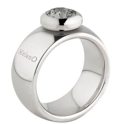 Melano Vivid Ring Vicky 10mm Edelstaal Zilverkleurig