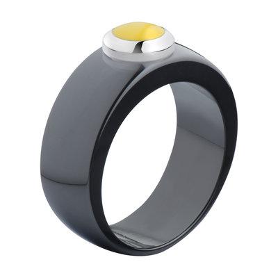 Melano Vivid Ring Keramisch Zwart 8mm