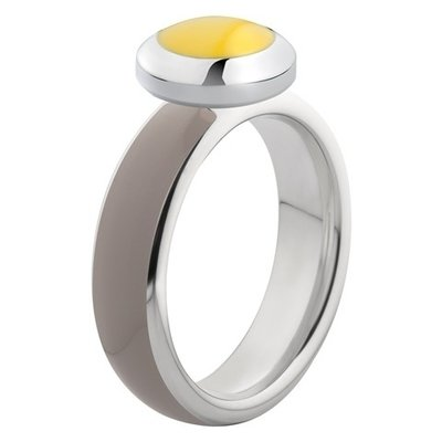Melano Vivid Ring Stainless Steel Silver-coloured Taupe