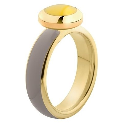 Melano Vivid Ring Stainless Steel Gold-coloured Taupe