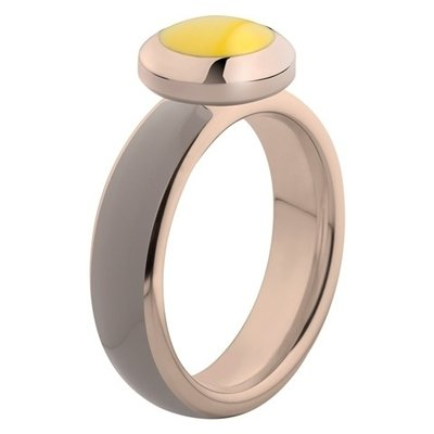 Melano Vivid Ring Stainless Steel Rose Gold-coloured Taupe
