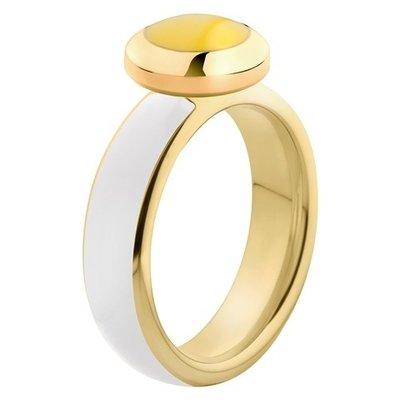 Melano Vivid Ring Edelstaal Goudkleurig White