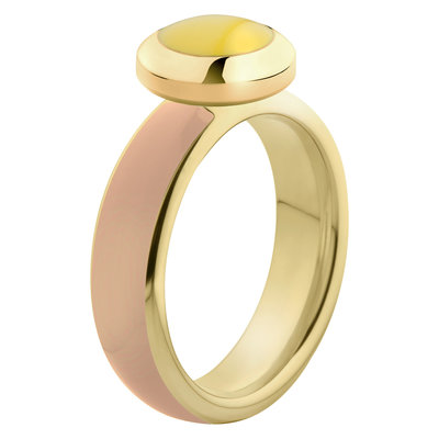 Melano Vivid Ring Stainless Steel Gold-coloured Nude