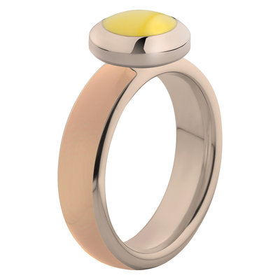 Melano Vivid Ring Stainless Steel Rose Gold-coloured Nude