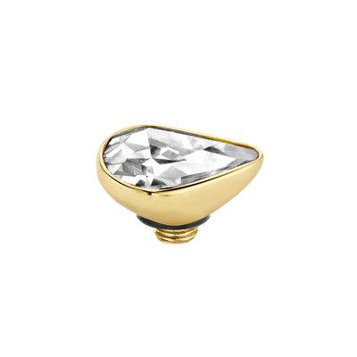 Melano Twisted Meddy 8mm Pear Goudkleurig  Crystal