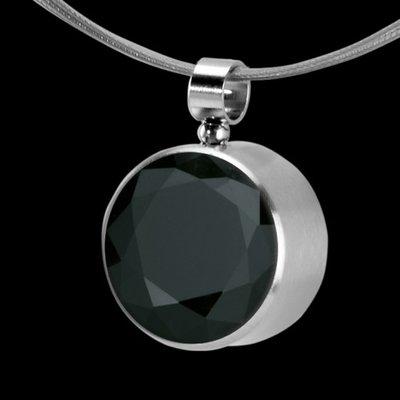 Melano Stainless Steel Zirkonia Hanger & Oog Black