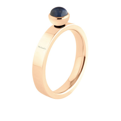 Melano Twisted Edelstaal Ring Rose Goudkleurig Tatum