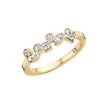 Melano Friends Ring Goud Kleurig Mosaic Crystal