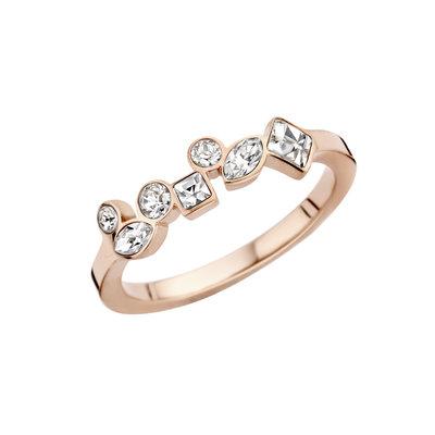 Melano Friends Ring Rose Goud Kleurig Mosaic Crystal