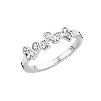 Melano Friends Ring Zilverkleurig Mosaic Crystal