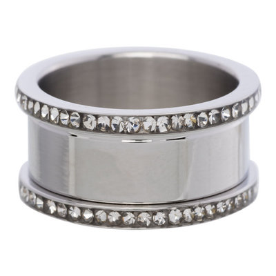 iXXXi Basis Ring 6-10mm Zirkonia Edelstaal Zilverkleurig