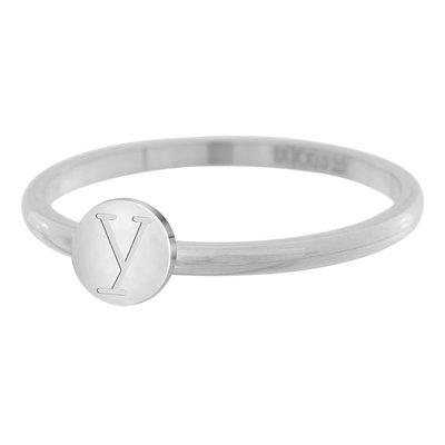 iXXXi Letter Ring 2mm Edelstaal Zilverkleurig Y