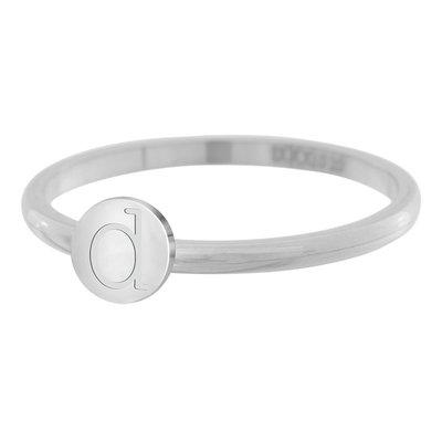 iXXXi Letter Ring 2mm Edelstaal Zilverkleurig D