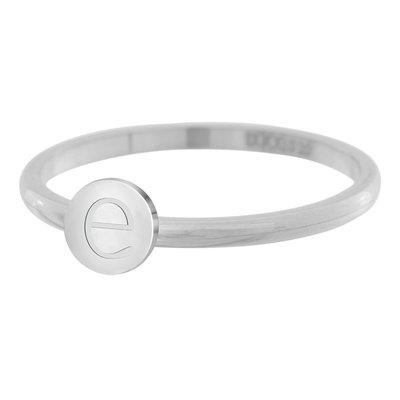 iXXXi Letter Ring 2mm Edelstaal Zilverkleurig E