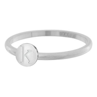 iXXXi Letter Ring 2mm Edelstaal Zilverkleurig K