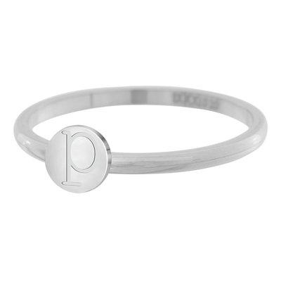 iXXXi Letter Ring 2mm Edelstaal Zilverkleurig P