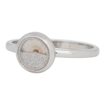 iXXXi Ring 2mm Edelstaal Zilverkleurig White Sand