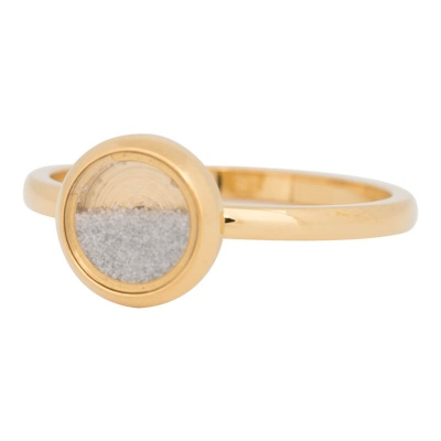 iXXXi Ring 2mm Edelstaal Goudkleurig White Sand
