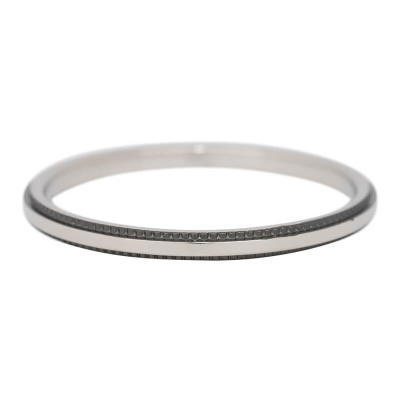 iXXXi Ring 2mm Edelstaal Zwart Double Gear