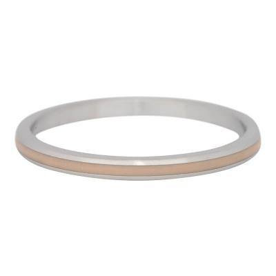 iXXXi Ring 2mm Edelstaal Line Beige