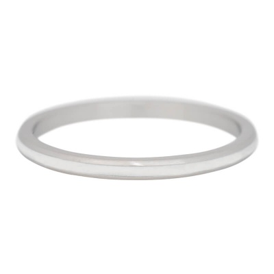 iXXXi Ring 2mm Edelstaal Line White