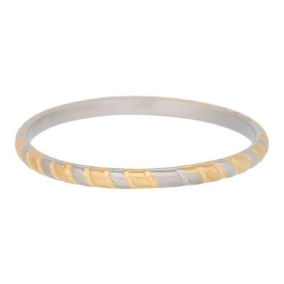 iXXXi Ring 2mm Rope Edelstaal Goudkleurig en Zilverkleurig
