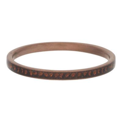iXXXi Ring 2mm Edelstaal Bruin Zirkonia Smoked Topaz