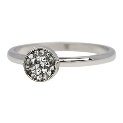iXXXi Ring 2mm Edelstaal Cup Stones Zilverkleurig