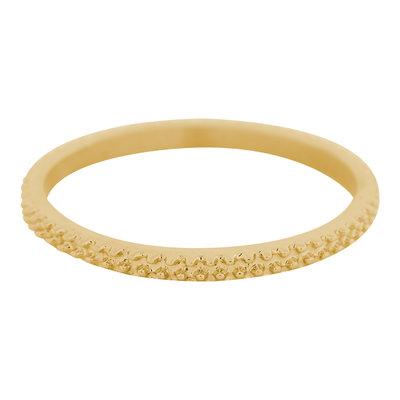 iXXXi Ring 2mm Edelstaal Kaviaar Goudkleurig