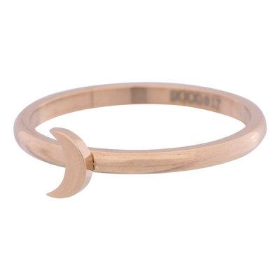 iXXXi Ring 2mm Edelstaal Rose Goudkleurig Maan