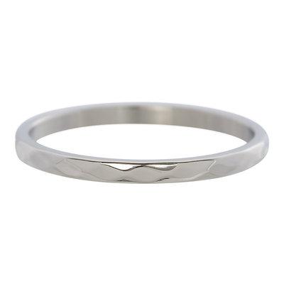 iXXXi Ring 2mm Edelstaal Small Hamerslag