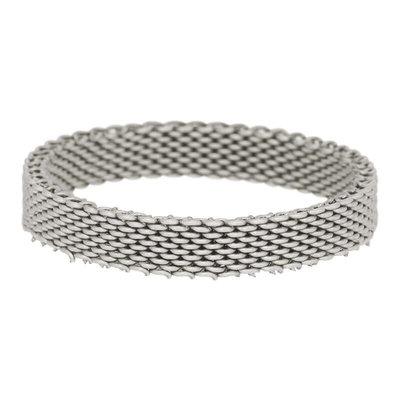 iXXXi Ring 4mm Mesh Edelstaal Zilverkleurig
