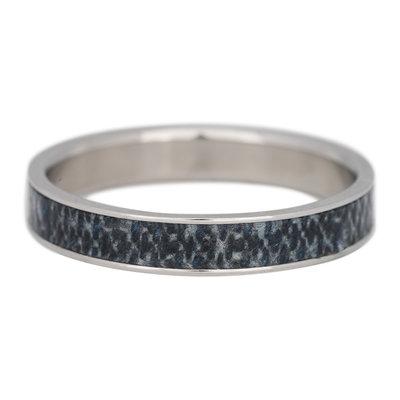 iXXXi Ring 4mm Edelstaal Zilverkleurig Jeans