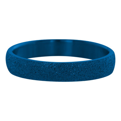 iXXXi Ring 4mm Edelstaal Sandblasted Blauw