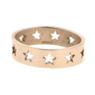 iXXXi Ring 6mm Rose Goudkleurig Open Stars