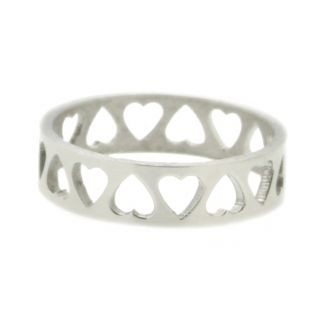 iXXXi Ring 6mm Stainless Steel Open Hartjes