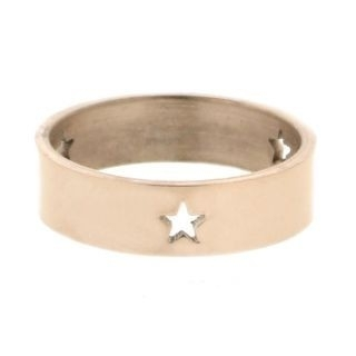 iXXXi Ring 6mm Rose Goudkleurig 3 Open Stars