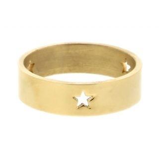 iXXXi Ring 6mm Goudkleurig 3 Open Stars