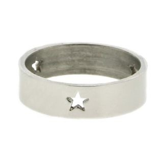 iXXXi Ring 6mm Stainless Steel 3 Open Stars