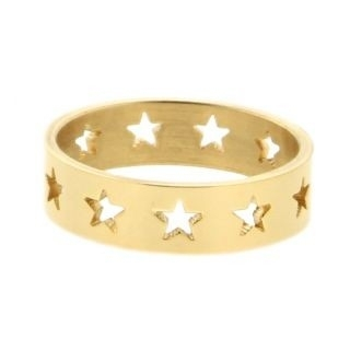 iXXXi Ring 6mm Goudkleurig Open Stars