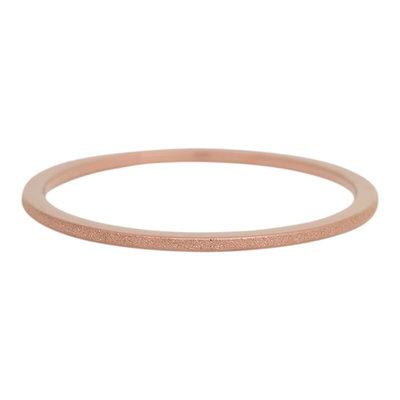 iXXXi Ring 1mm Edelstaal Bruin Sandblasted