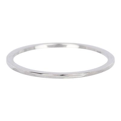 iXXXi Ring 1mm Edelstaal Zilverkleurig Wave
