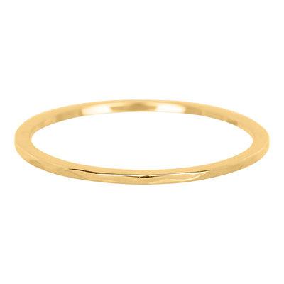 iXXXi Ring 1mm Edelstaal Goudkleurig Wave