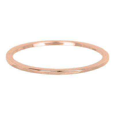 iXXXi Ring 1mm Edelstaal Rose Goudkleurig Wave