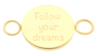 iXXXi Bangle Meddy  Follow Your Dreams Edelstaal Goudkleurig