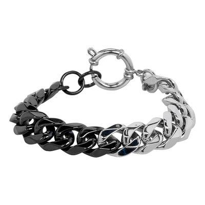 iXXXi Armband Edelstaal Zilverkleurig & Zwart