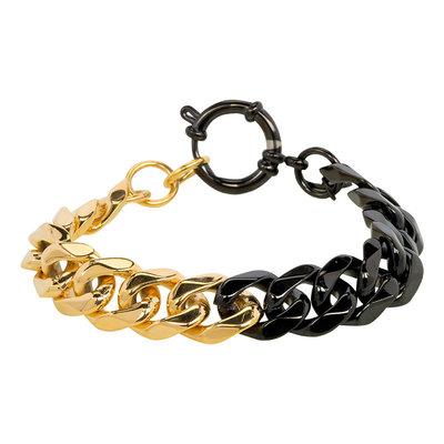 iXXXi Armband Edelstaal Goudkleurig & Zwart