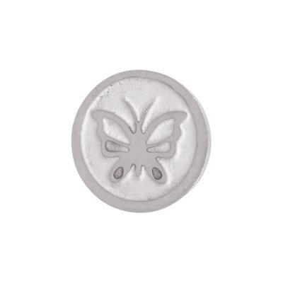 iXXXi Top Part Vlinder Zilver-kleurig